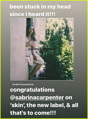 Joshua Bassett Supports Sabrina Carpenter on Instagram Story