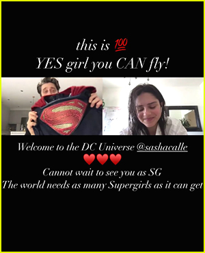 Melissa Benoist Insta Story Congratulating Sasha Calle
