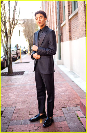 Joshua Caleb Johnson poses for Critics Choice Awards