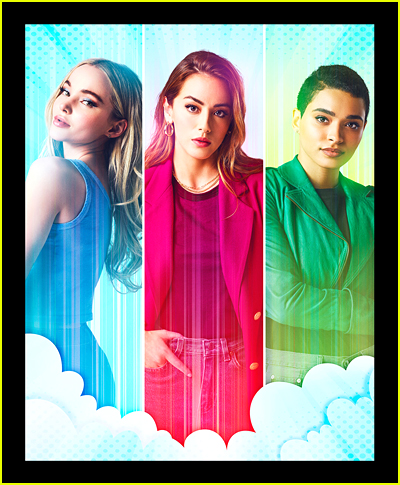 Dove Cameron, Chloe Bennet, Yana Perrault as adult Powerpuff Girls