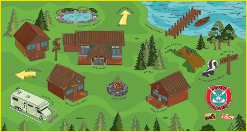Map of Camp Kikiwaka on Disney Channel's Bunk'd