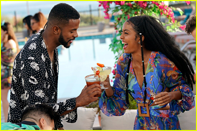 Trevor Jackson and Yara Shahidi cheers while on vacation in grown-ish sneak peek
