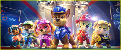 Group photo of the Paw Patrol from Paw Patrol: The Movie