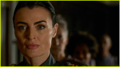 Lyne Renee looks stern in Motherland: Fort Salem first look