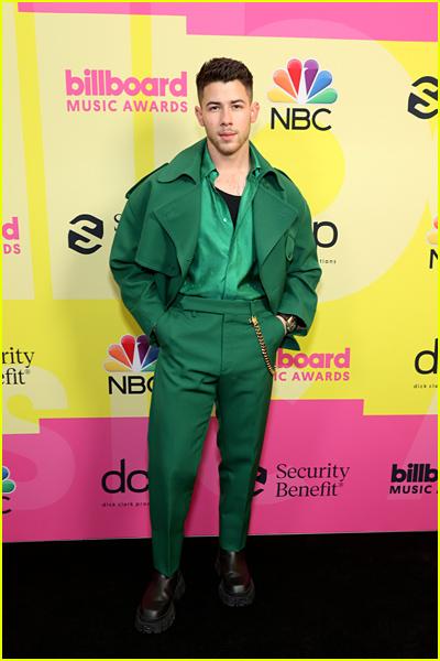 Nick Jonas on the black carpet the Billboard Music Awards