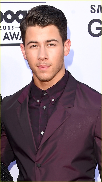 Nick Jonas on the red carpet at the 2015 Billboard Music Awards