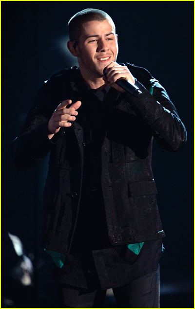Nick Jonas performing at the 2016 Billboard Musica Awards