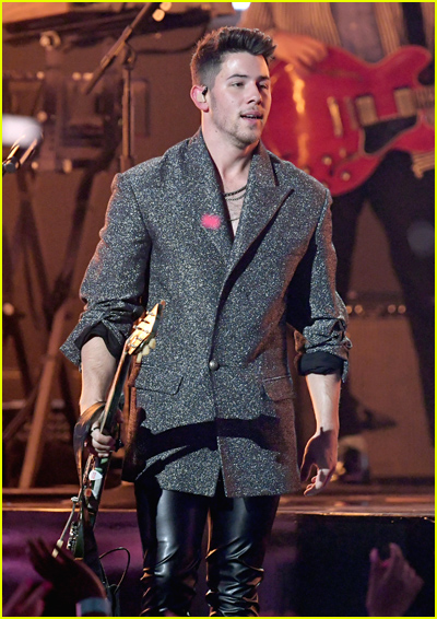Nick Jonas on stage at 2019 Billboard Music Awards