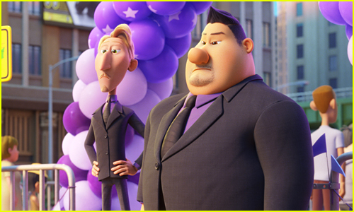 Ruben and Butch stand as security guards in Paw Patrol The Movie