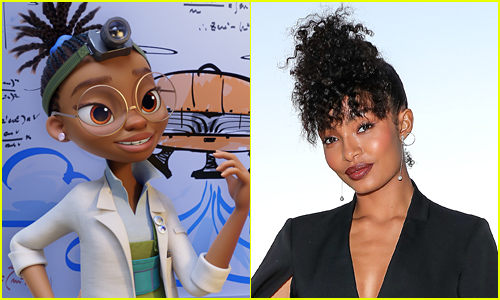 side by side of Yara Shahidi and her character Kendra