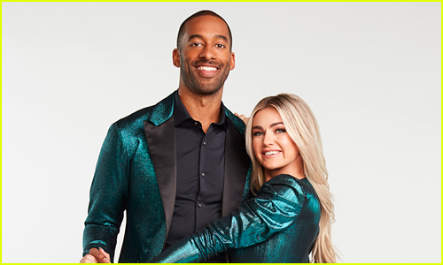 Matt James and Lindsay Arnold coupled up on DWTS