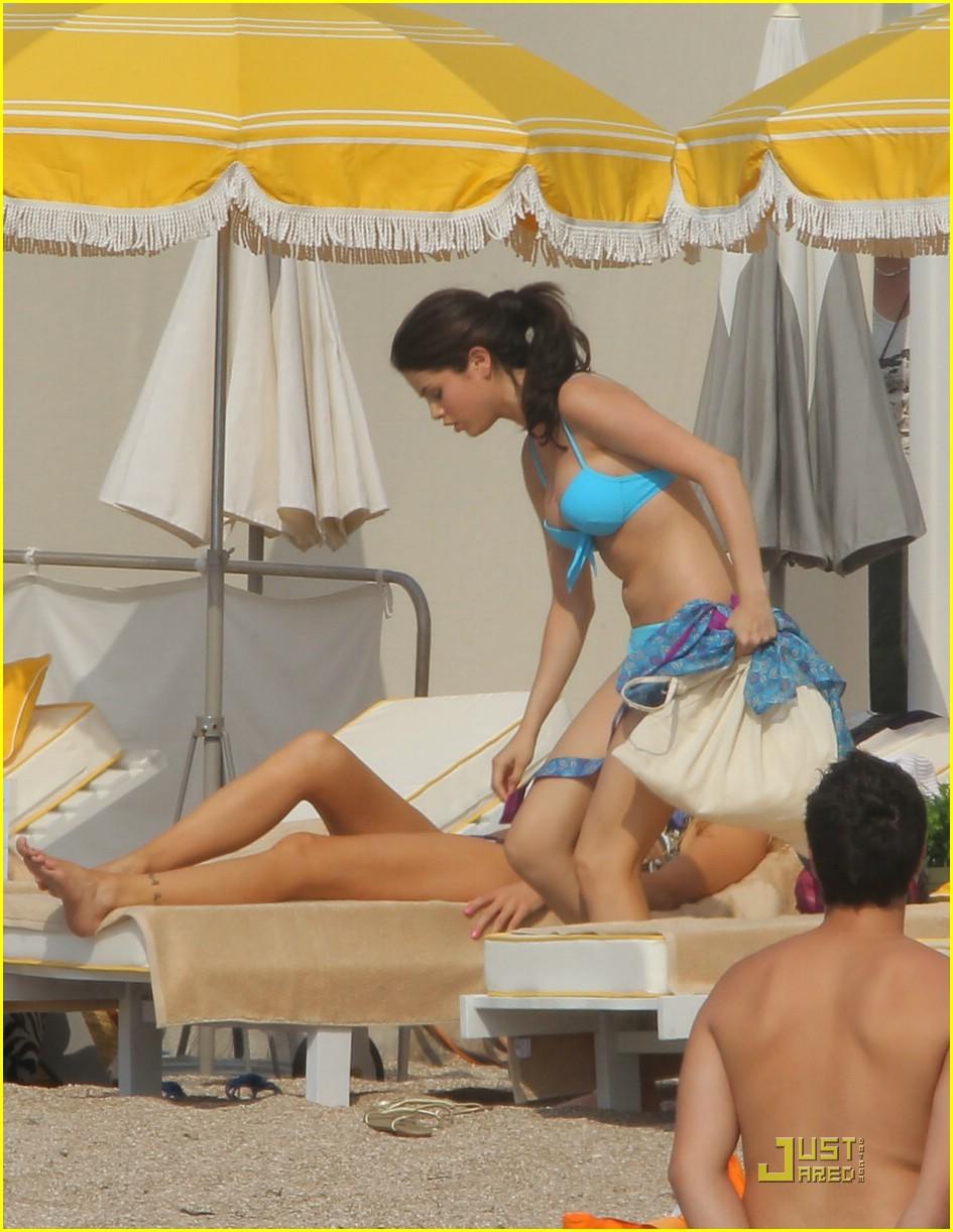 Blue bikini gomez selena Sexy in