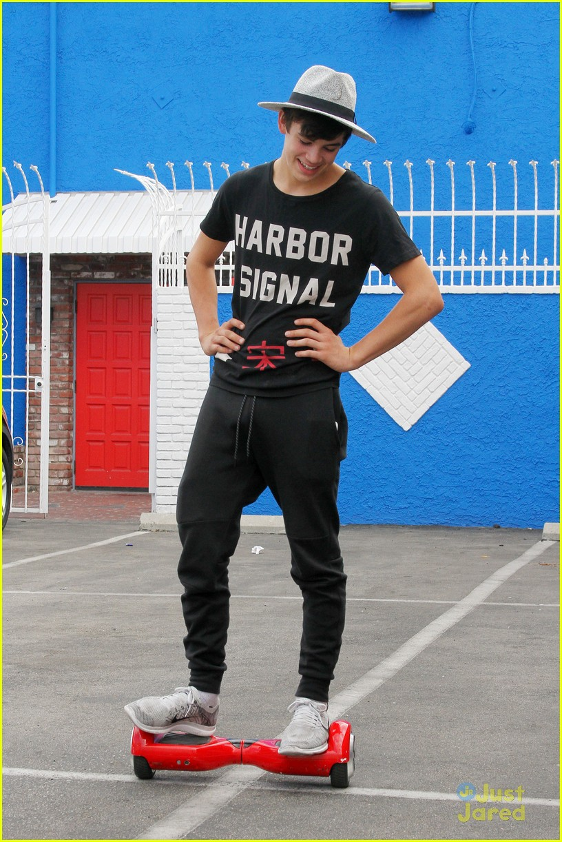 hayes grier carlos pena hoverboard fun dwts practice 02