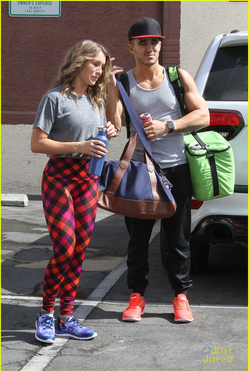 hayes grier carlos pena hoverboard fun dwts practice 06