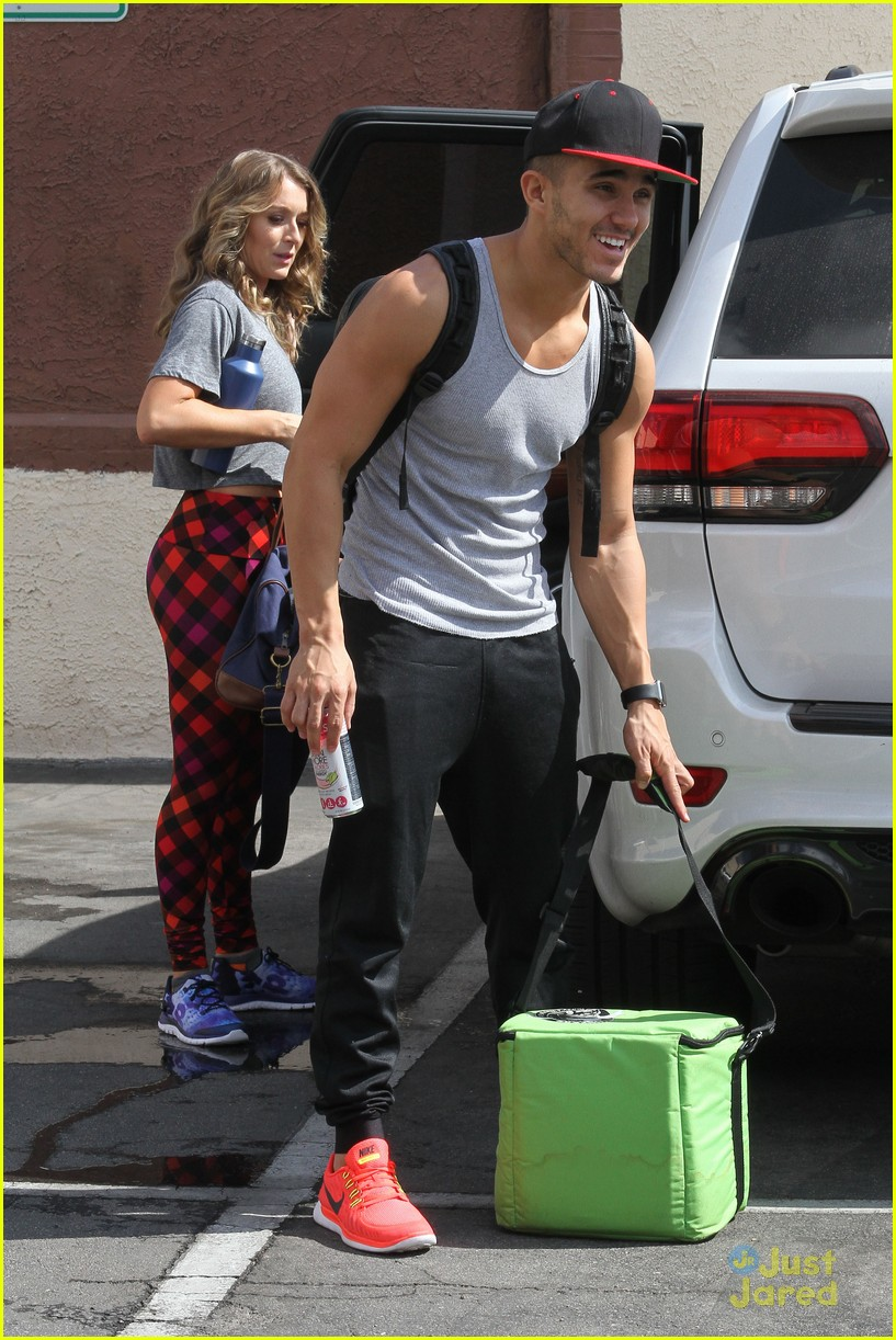 hayes grier carlos pena hoverboard fun dwts practice 19