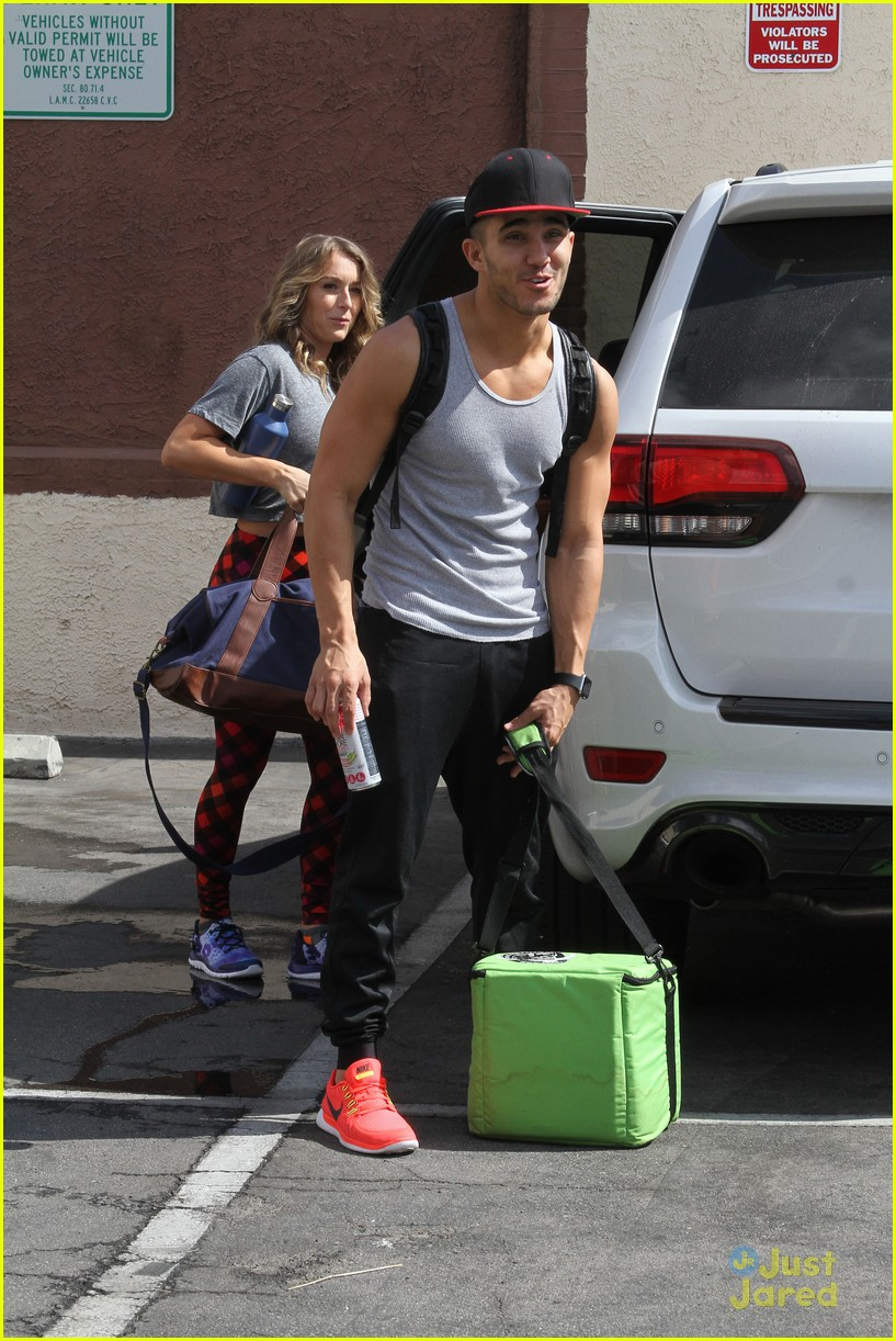hayes grier carlos pena hoverboard fun dwts practice 23