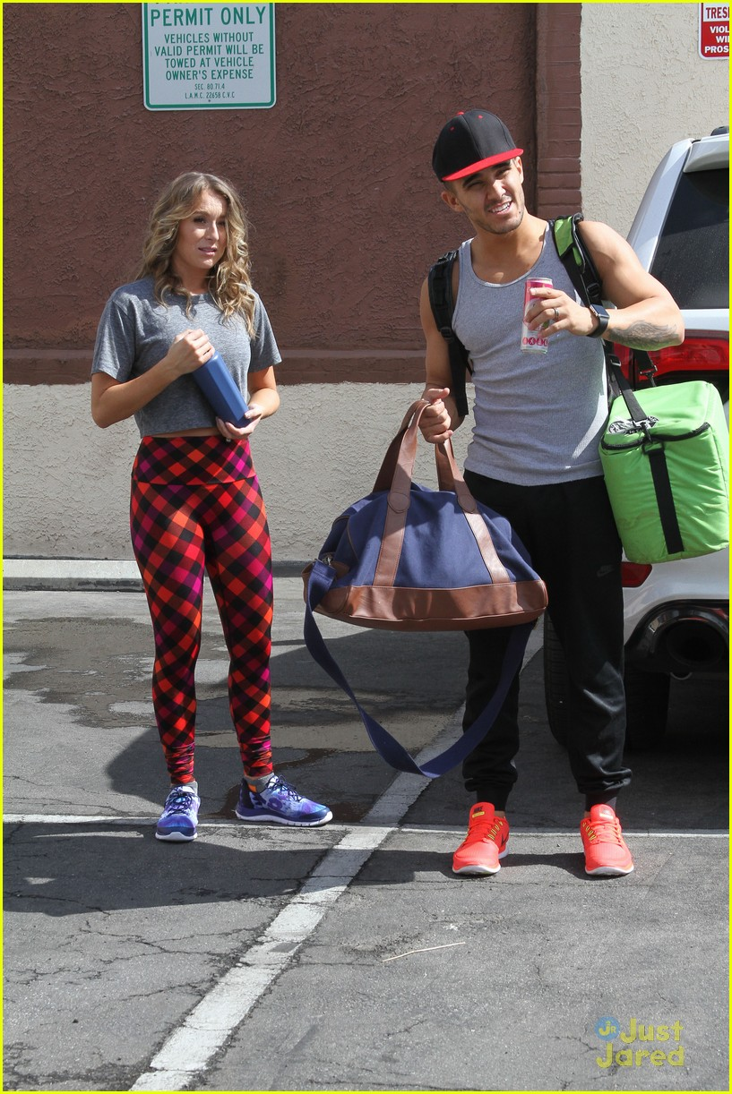 hayes grier carlos pena hoverboard fun dwts practice 25