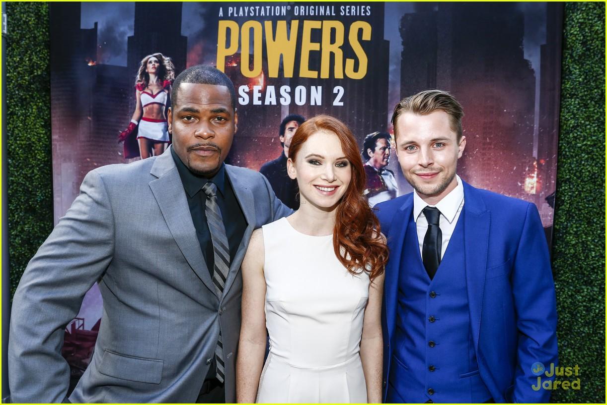 Olesya Rulin Reunites With Logan Browning at Powers