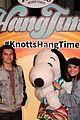 daniella perkins niki koss try new hangtime ride at knotts berry farm 16