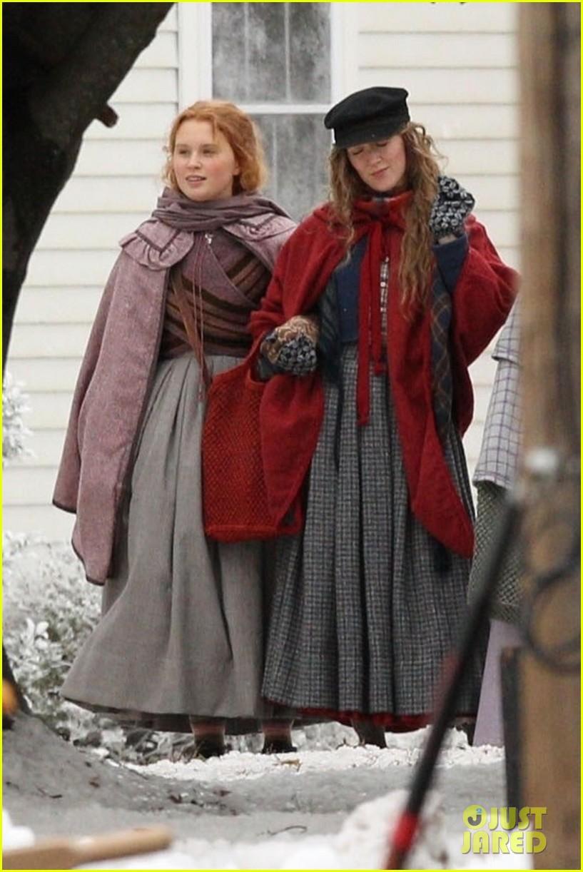 emma watson saoirse ronan four march sisters little women filming 04