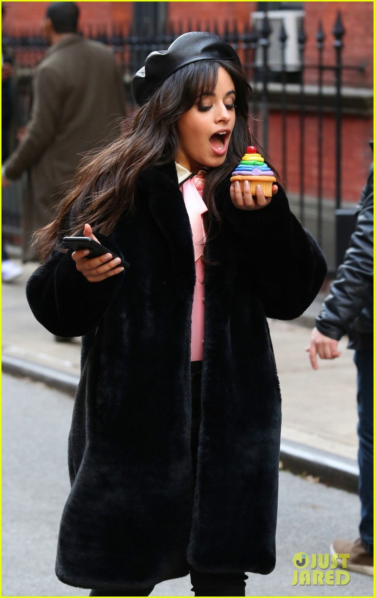 camila cabello eats cupcakes plays with dogs filming new commercial 02