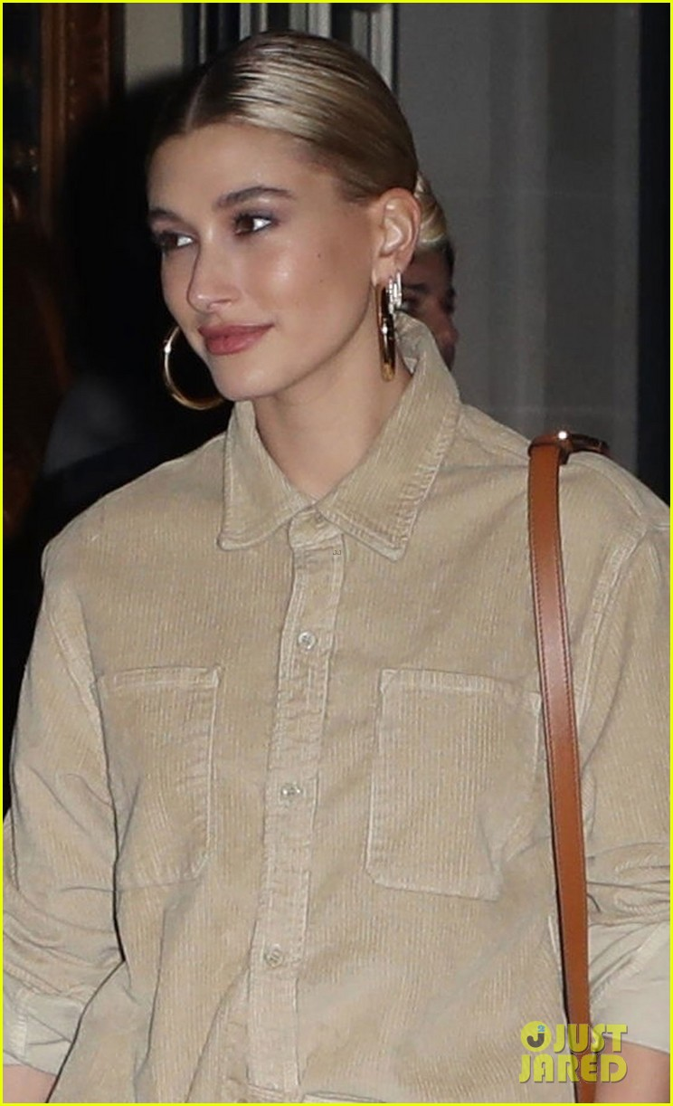 hailey bieber all smiles while leaving party with stylist maeve reilly 02
