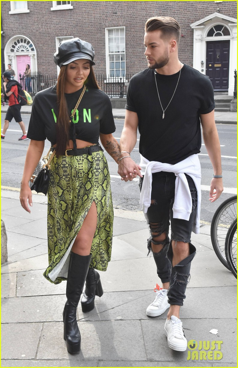 jesy nelson and boyfriend chris hughes hold hands while out in dublin 03