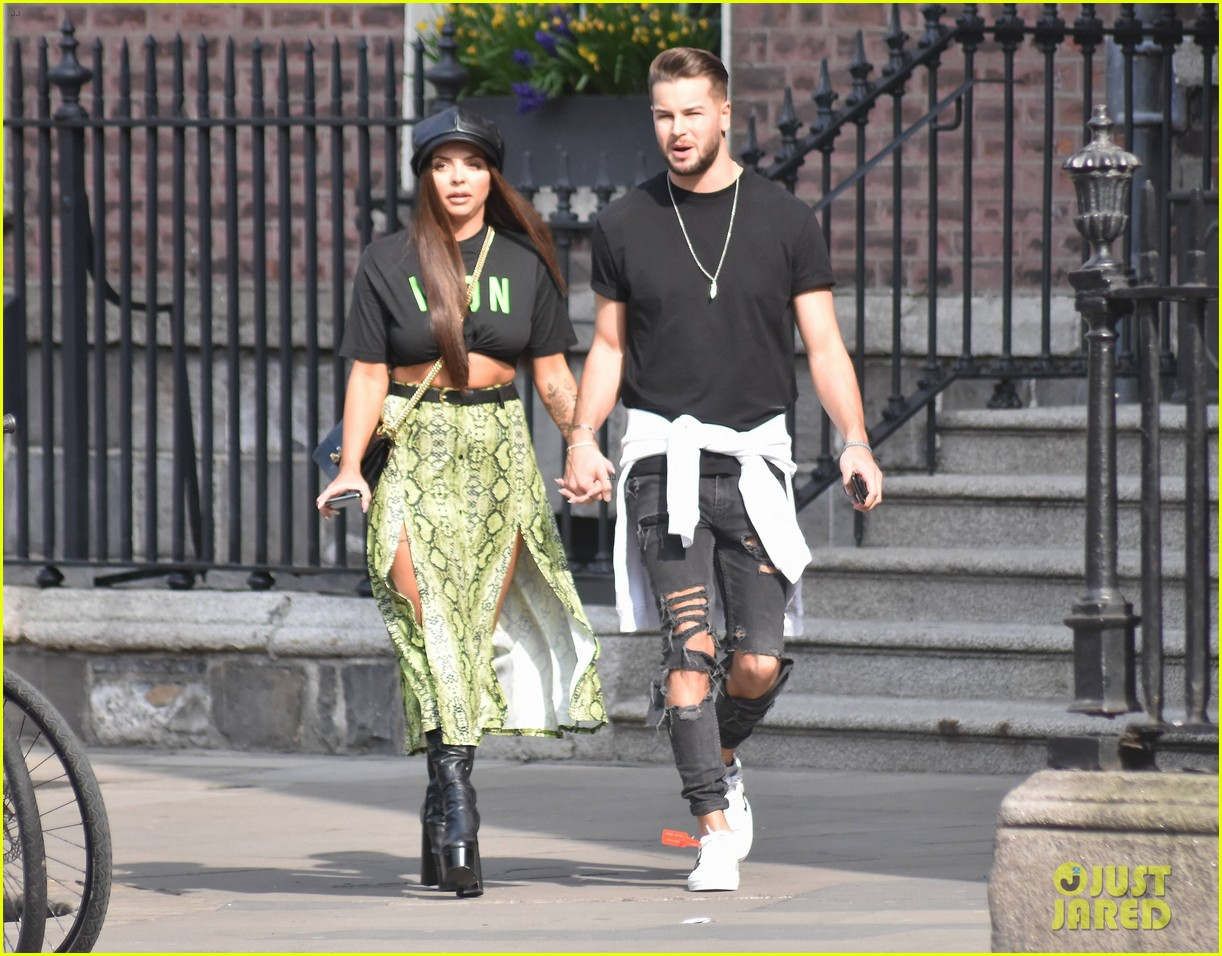 jesy nelson and boyfriend chris hughes hold hands while out in dublin 08