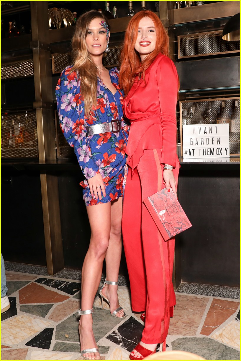 bella thorne and nina agdal team up for moxy chelseas grand opening 01