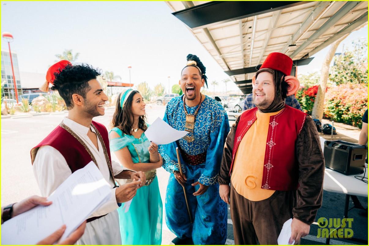 aladdin cast crosswalk musical video 21