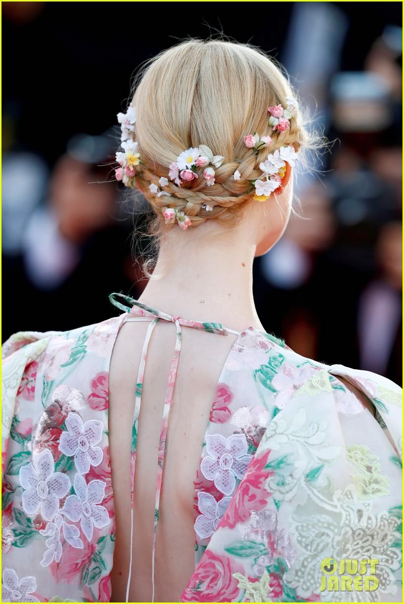 elle fanning floral gown cannes les mis premiere 22