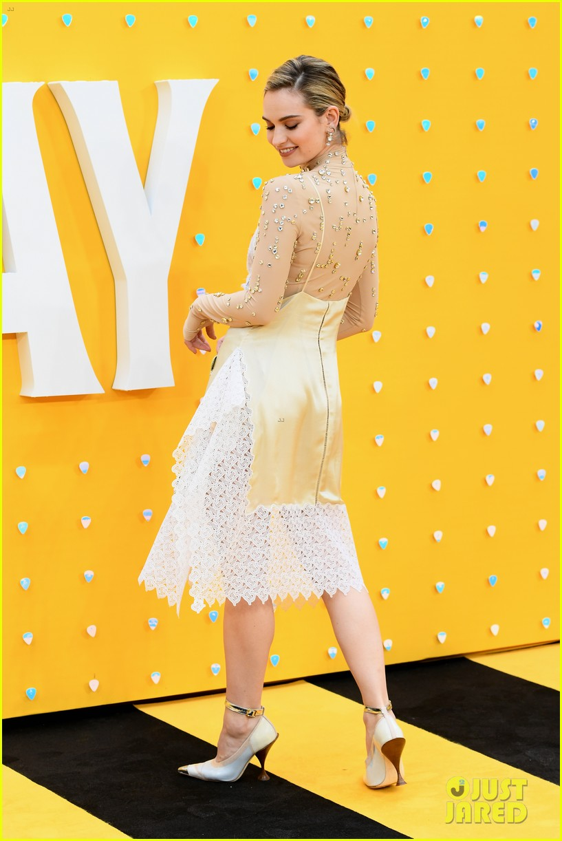 lily james ed sheeran himesh patel more yesterday london premiere 34