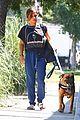 isabela moner walks dog weho 01