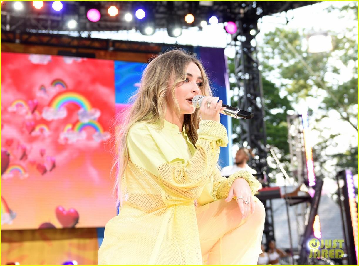 sabrina carpenter takes over good morning americas summer concert series 22