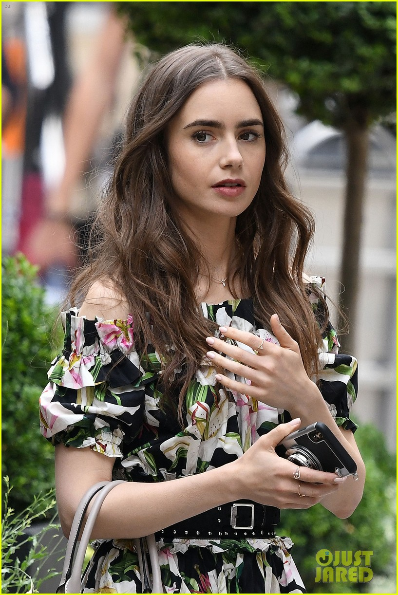 lily collins new looks emily paris filming 02