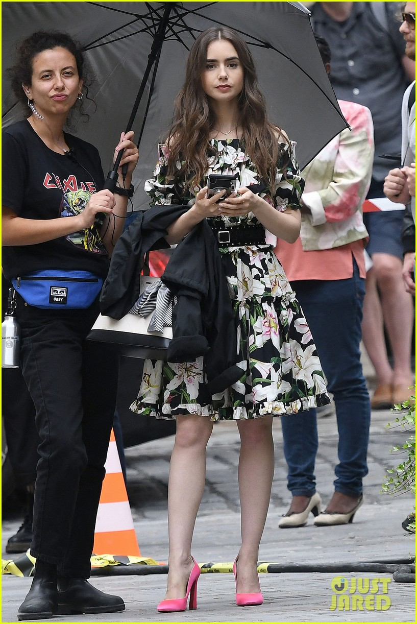 lily collins new looks emily paris filming 05