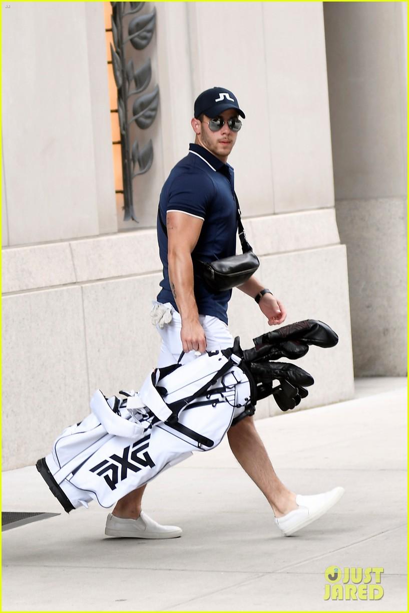 nick jonas looks muscular while heading to play golf 03