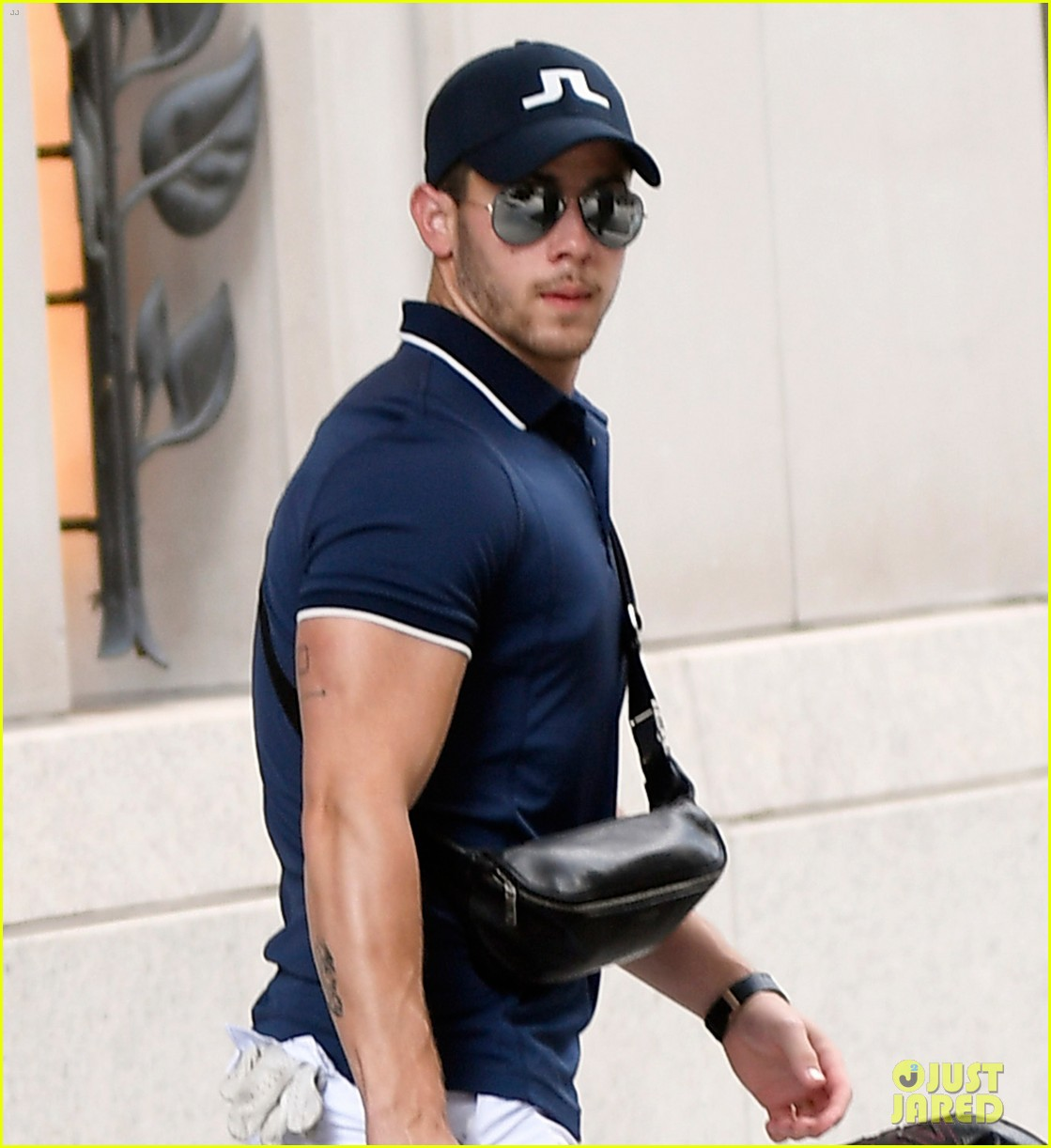 nick jonas looks muscular while heading to play golf 06