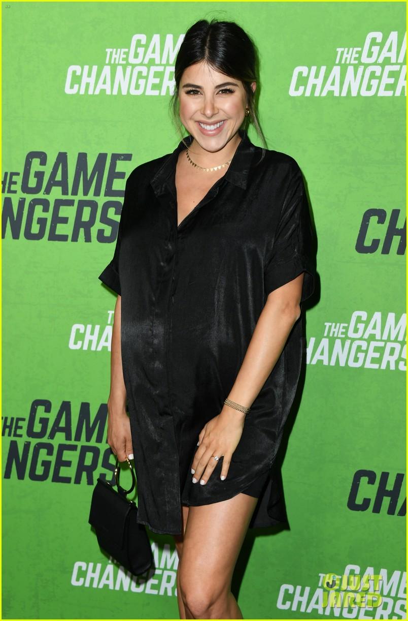 daniella monet attends game changers premiere 9 months pregnant 04
