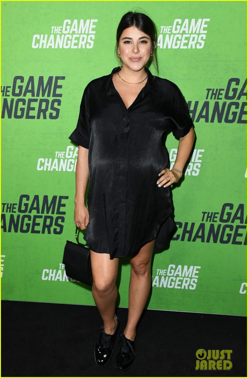 daniella monet attends game changers premiere 9 months pregnant 06