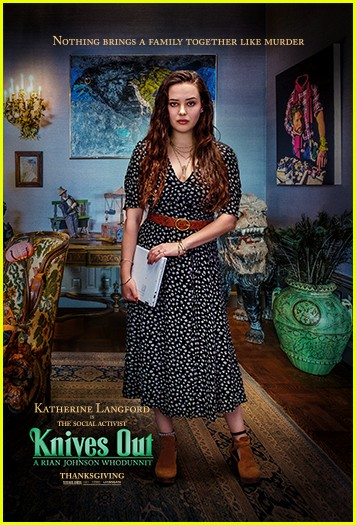 katherine langford jaeden bartels give peek at knives out characters 01