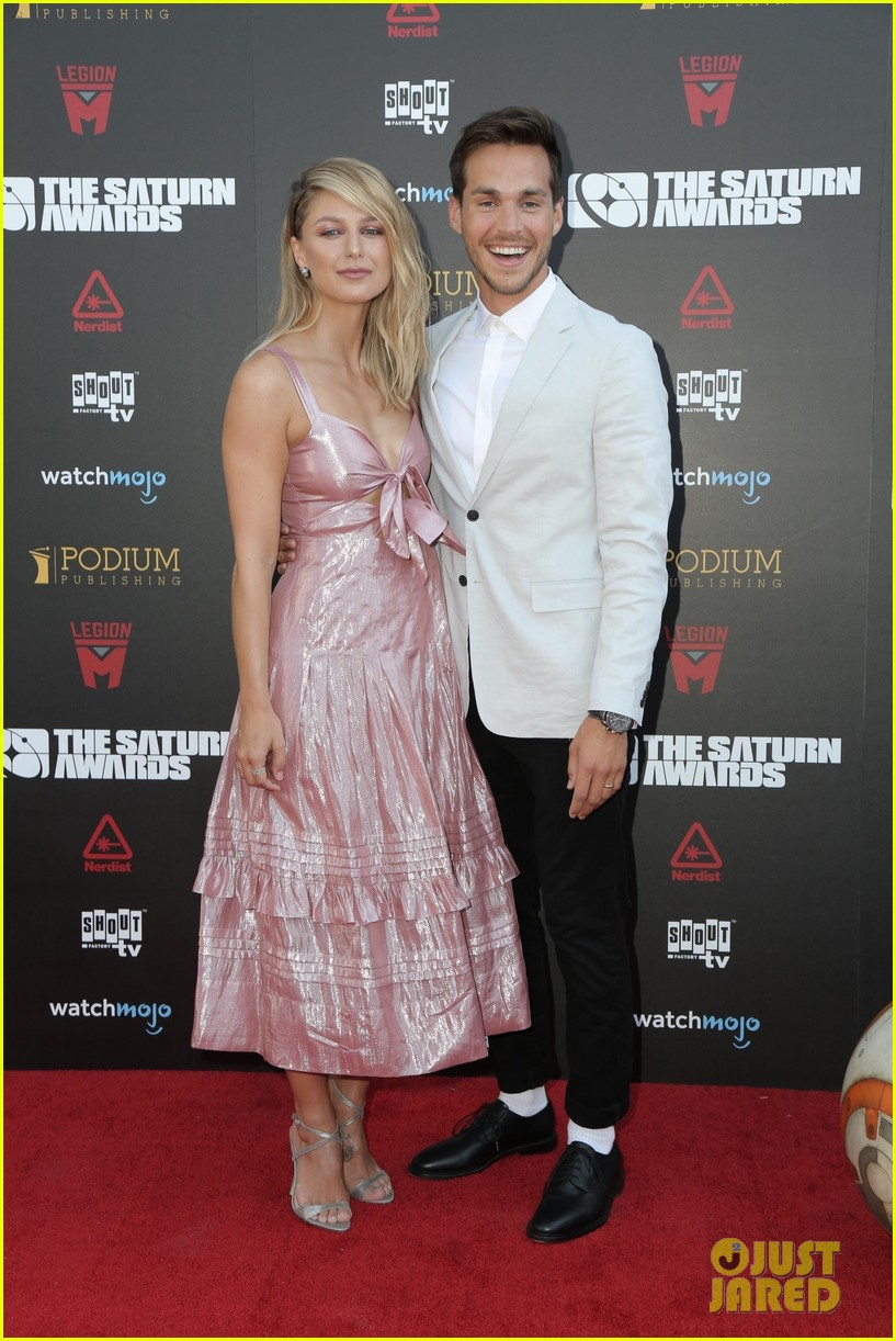 melissa benoist chris wood make first appearance since getting married 01