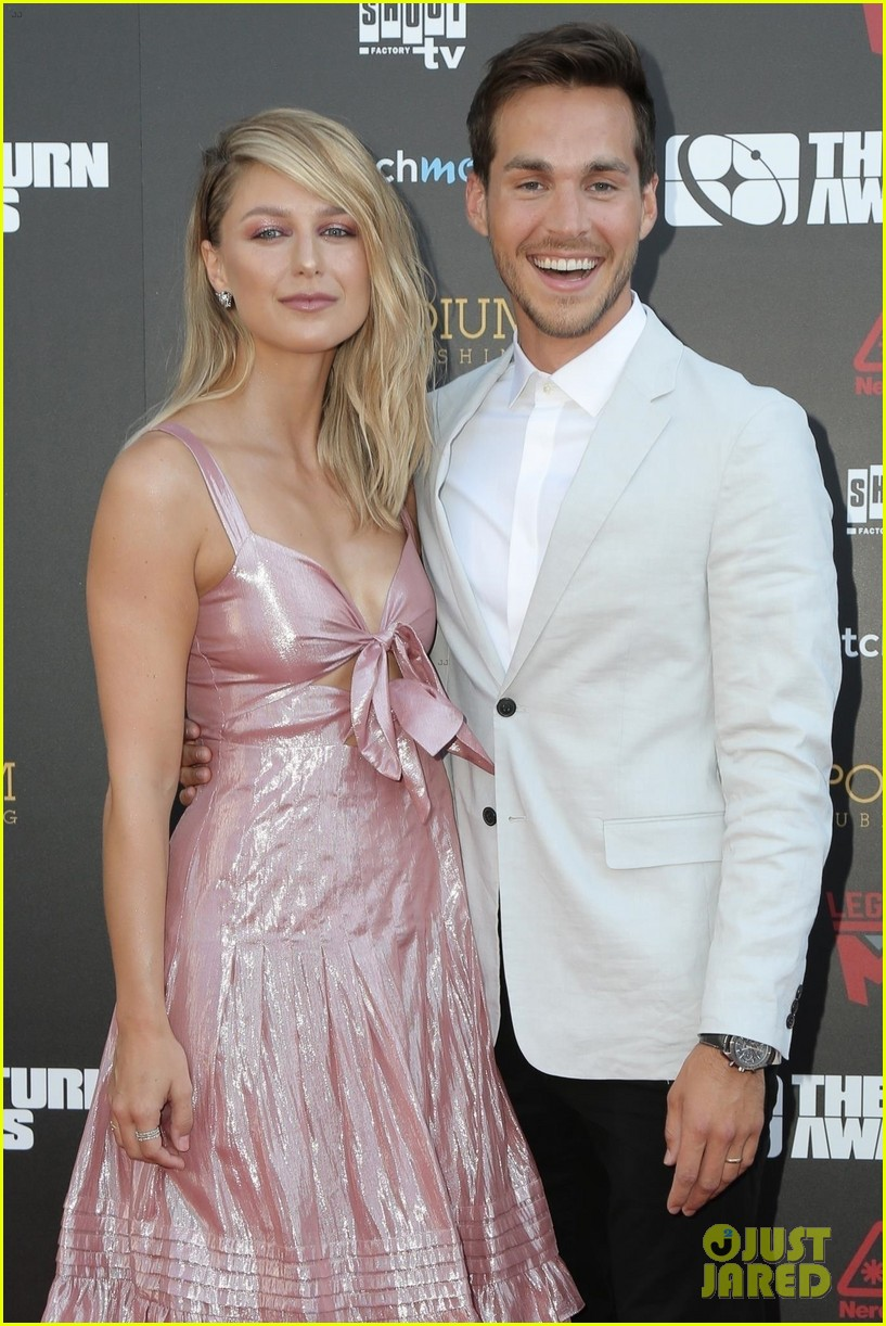 melissa benoist chris wood make first appearance since getting married 04