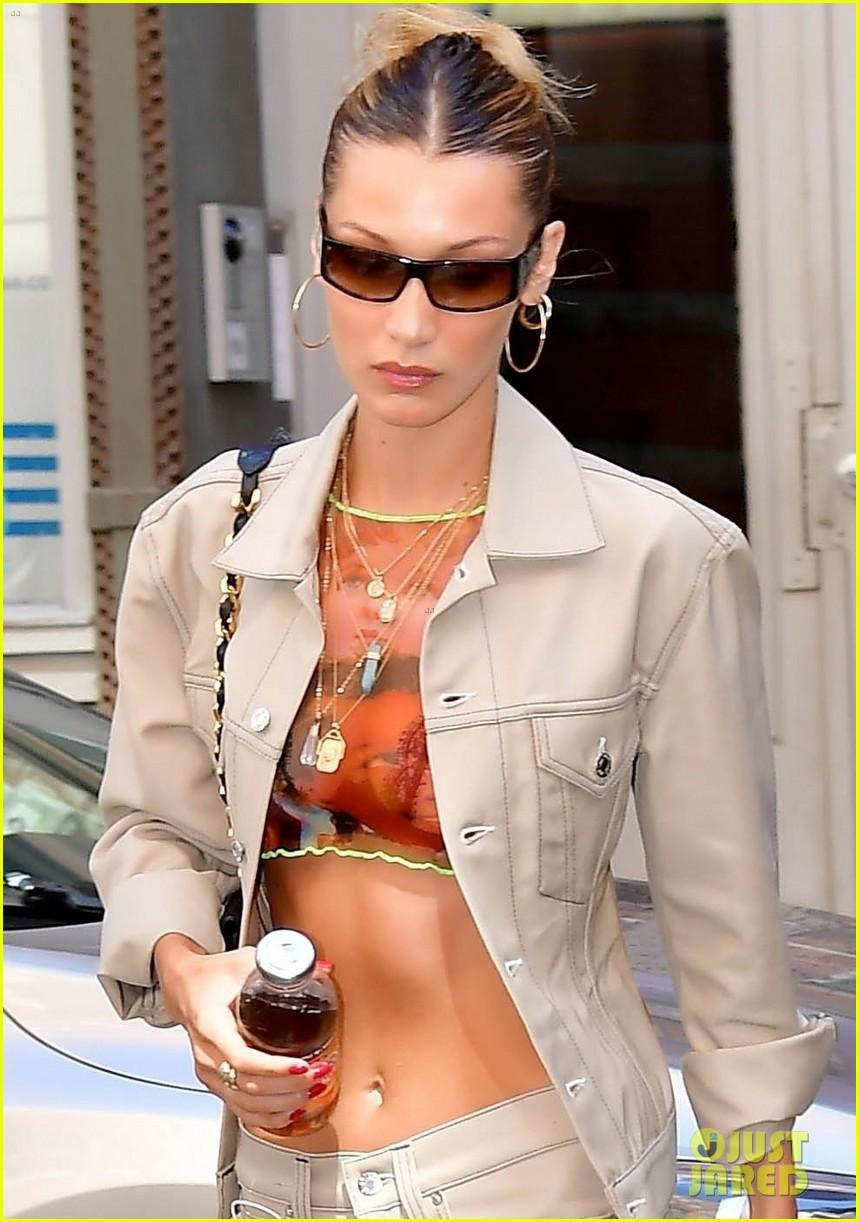 bella hadid irina shayk work the runway brandon maxwell fashion show 06