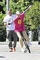 justin bieber falls off unicycle while learning how to ride 13