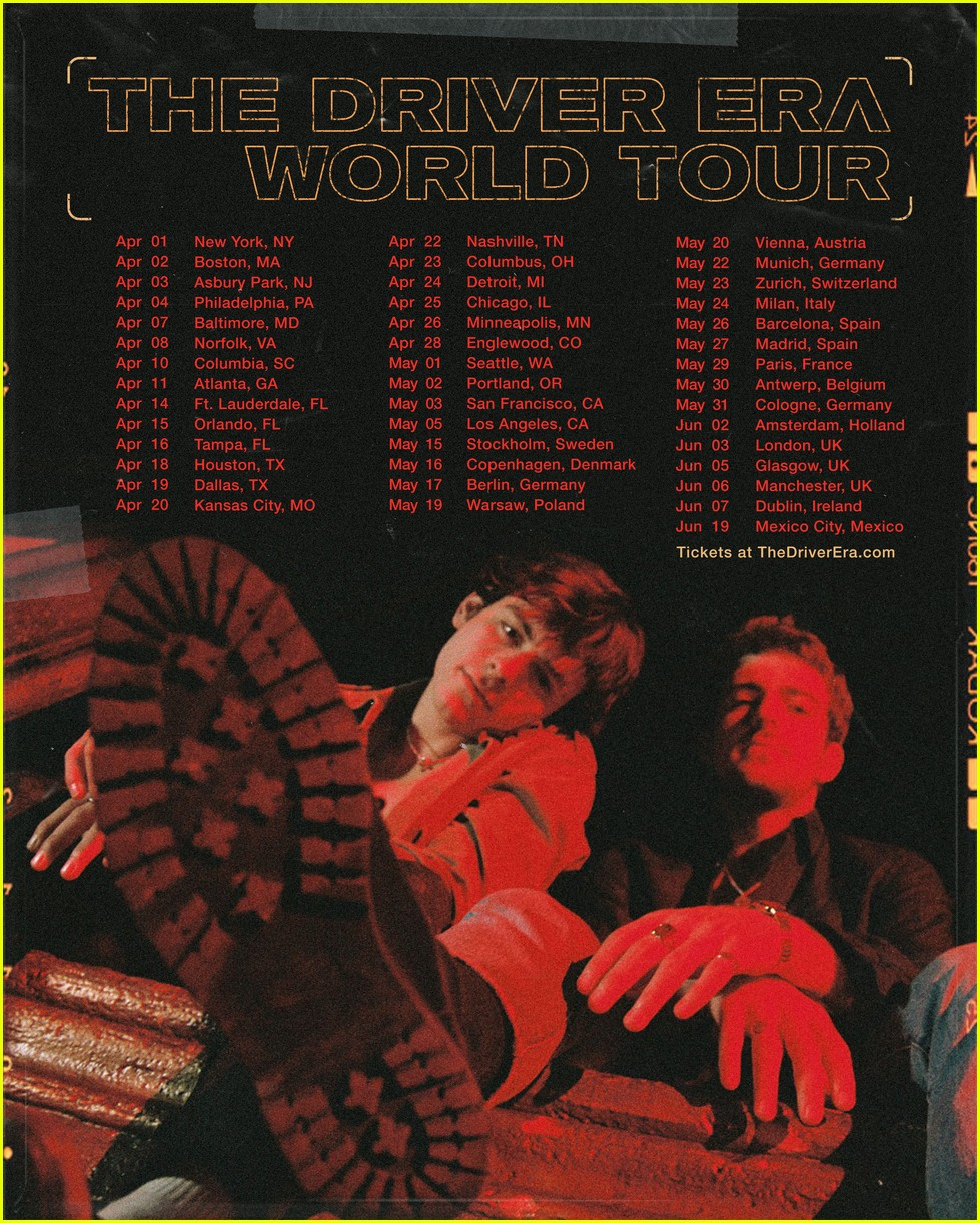 the driver era announce 2020 world tour see the dates 01