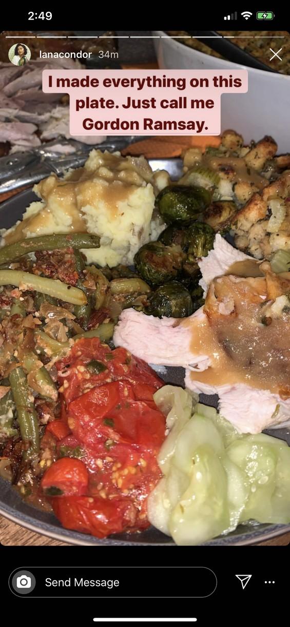 lana condor yt thanksgiving meal 01