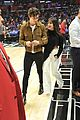 shawn mendes camila cabello share smooch clippers game 02