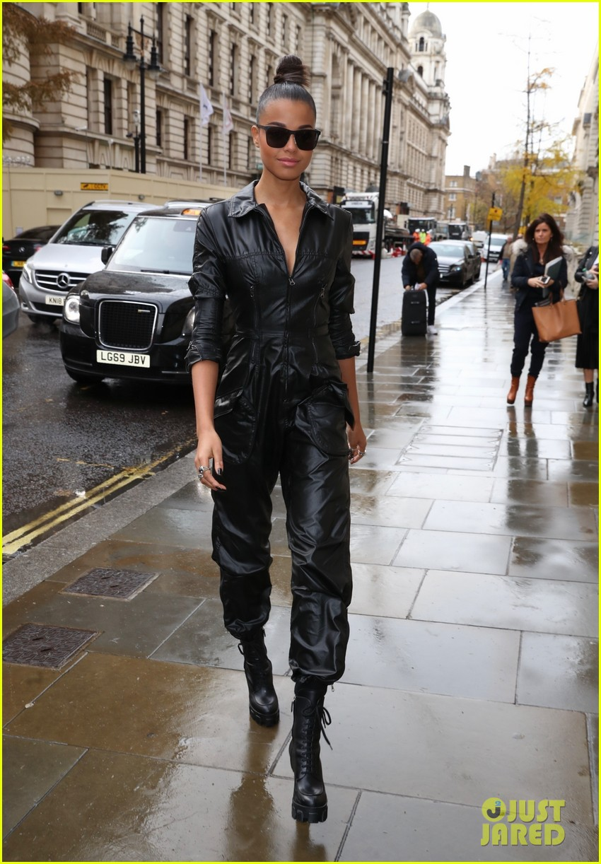 naomi scott ella balinska slay london street style for charlies angels promo 02