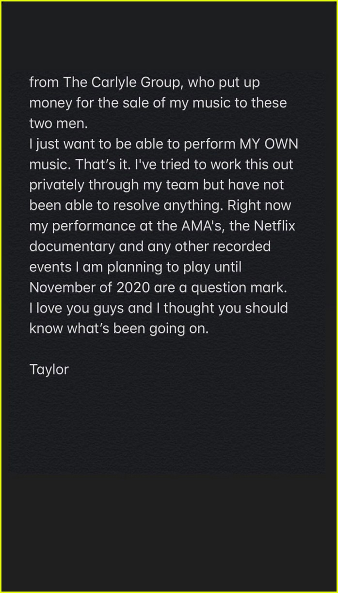 taylor swift open letter about amas 03